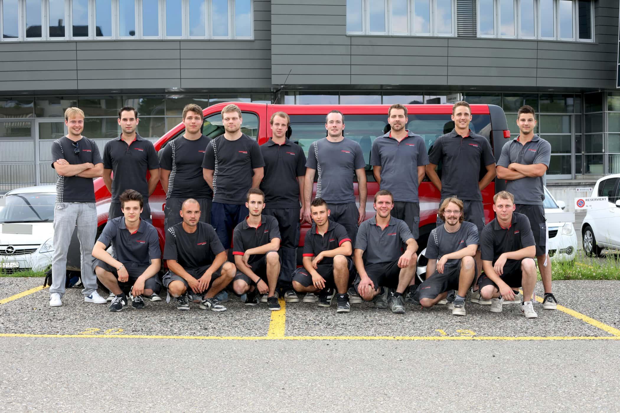 Maréchaux-Sursee-Team im Jahr 2014