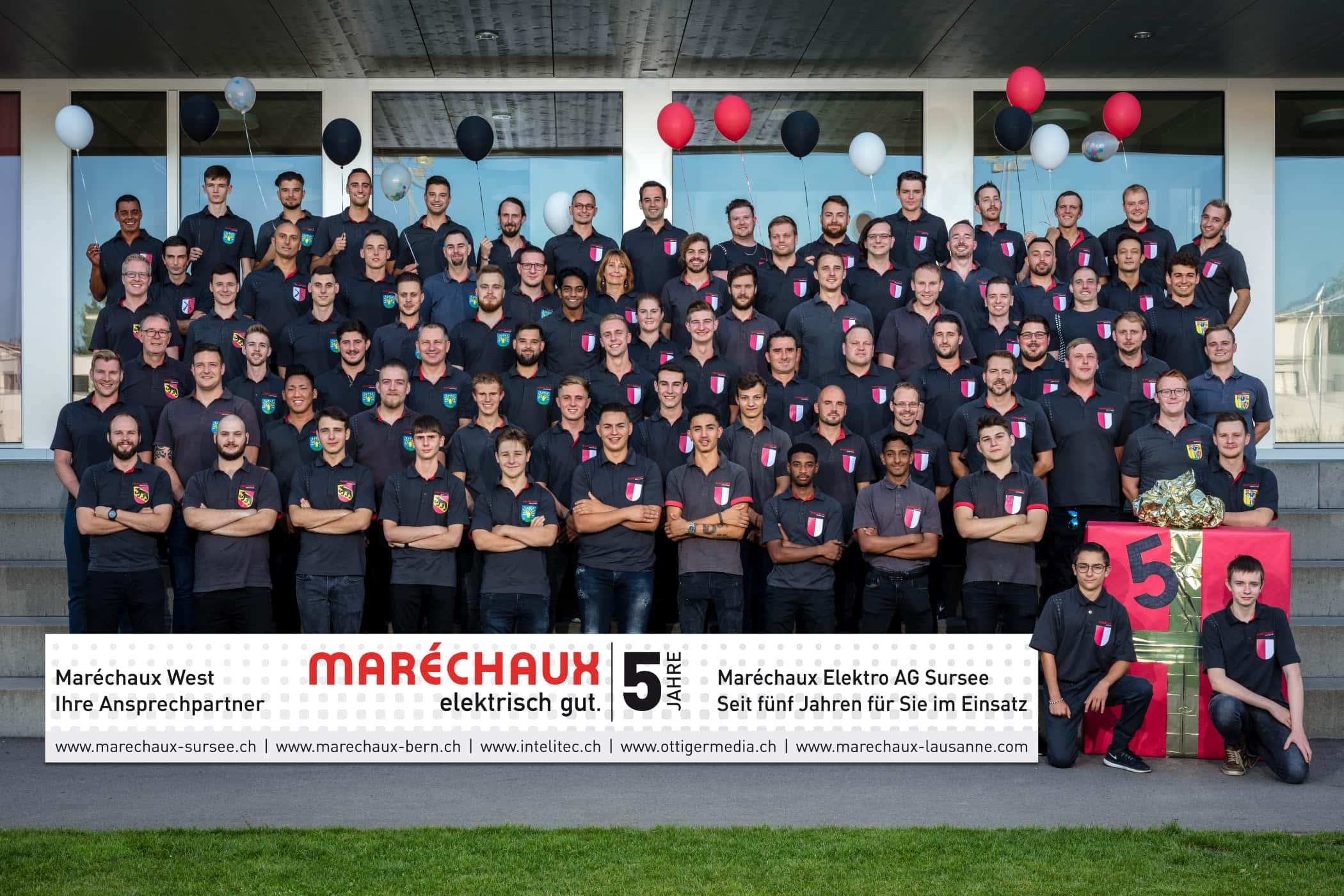 Maréchaux-Sursee-Team im Jahr 2019