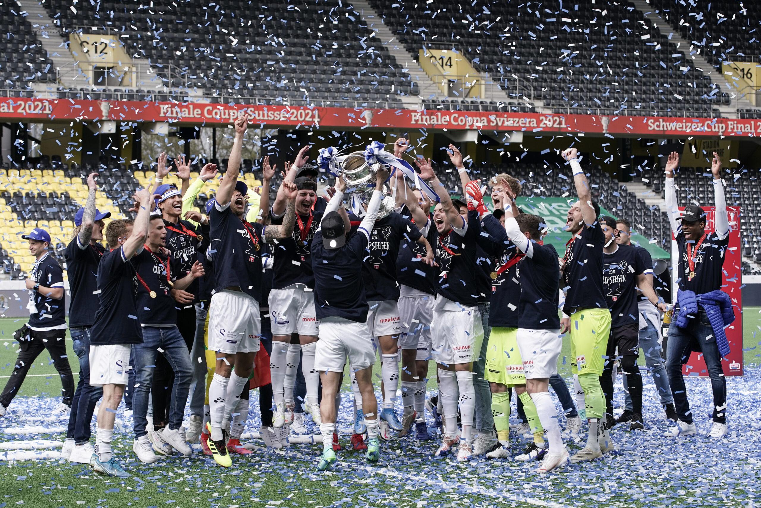 24.05.2021; Bern; FUSSBALL SCHWEIZER CUP - FC St. Gallen - FC Luzern; Pokaluebergabe (Martin Meienberger/freshfocus)